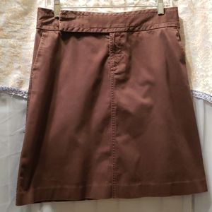 OLD NAVY BROWN A-LINE COTTON/SPANDEX SKIRT SZ 4